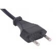 欧标两芯电源线插头,欧盟小圆插,VDE认证2.5A插头